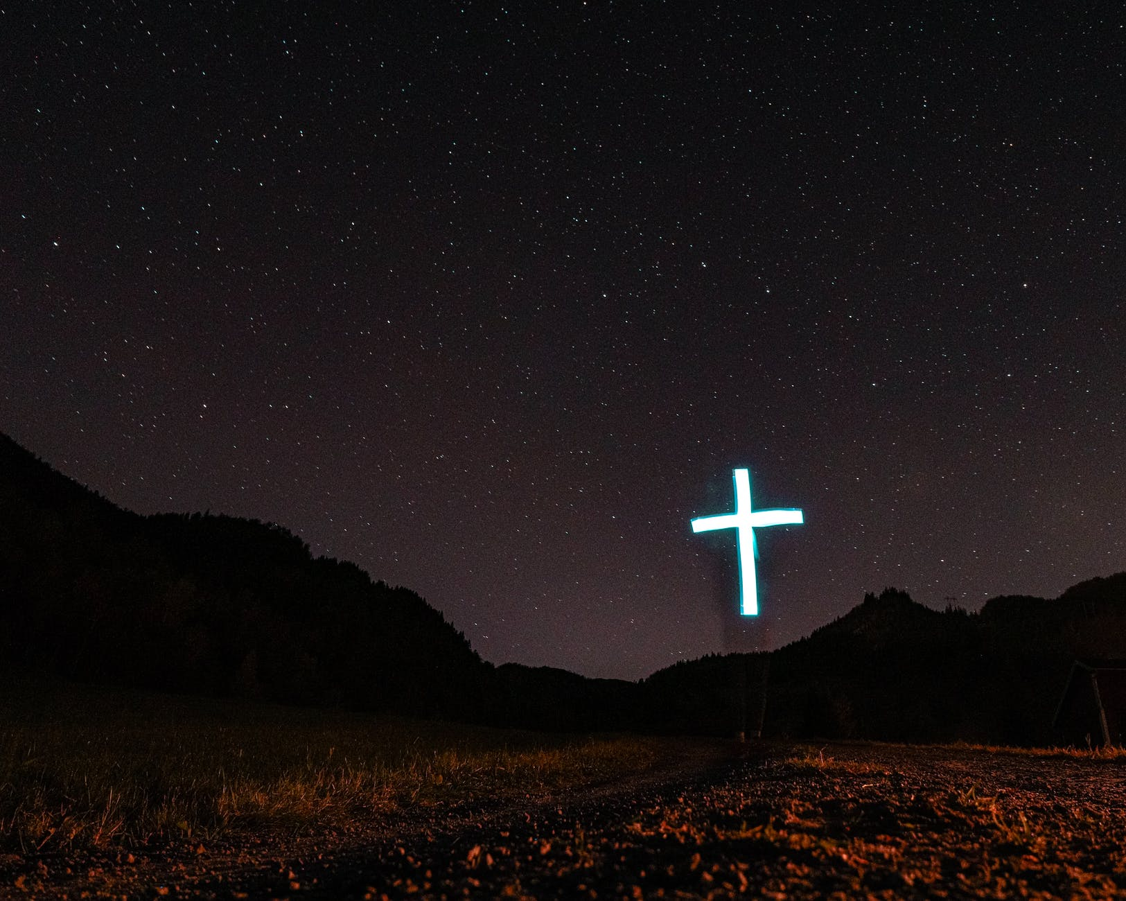 lighted cross decor